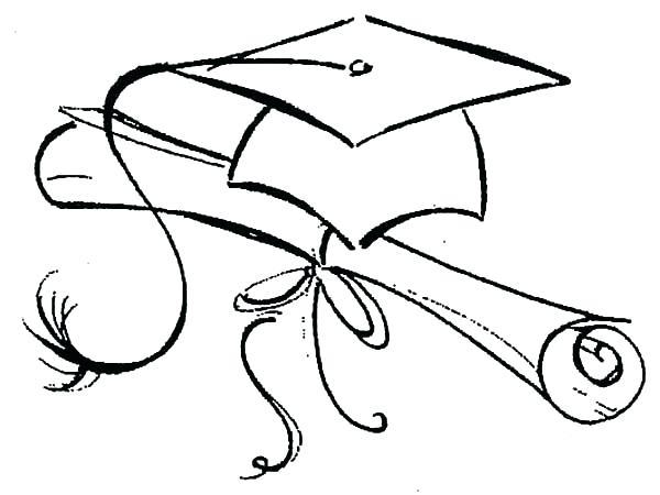 600x450 Graduation Cap Coloring Page Graduation Coloring Pages Girl
