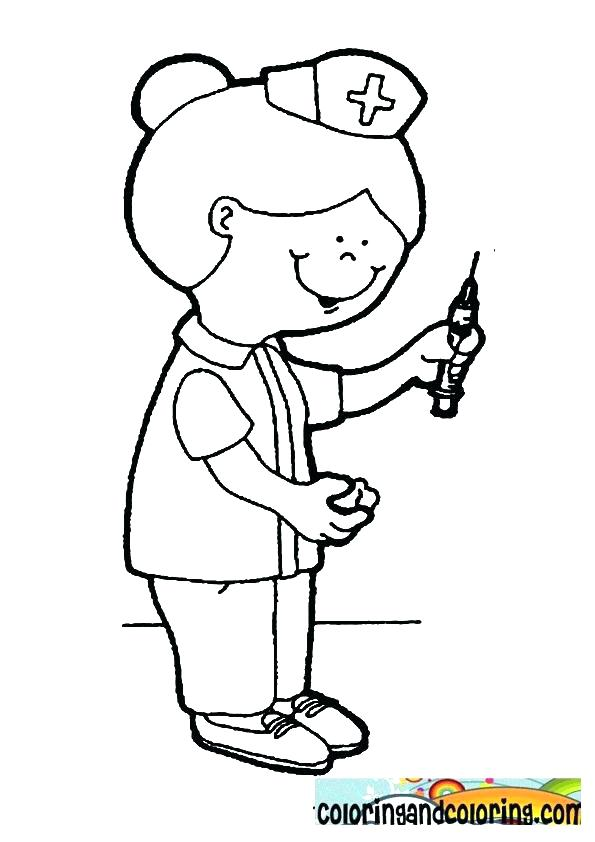 595x842 Nurse Coloring Page Feel Better Coloring Pages Good Nurse Coloring