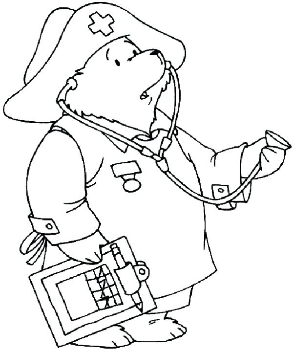 600x722 Nurse Coloring Pages Kindergarten Male Us On Top For Kids Miss