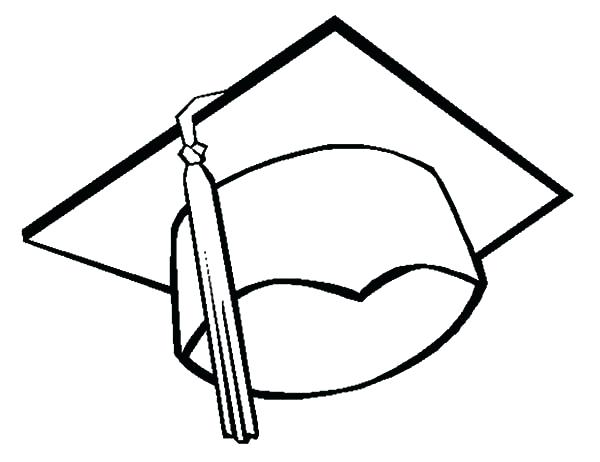 600x462 Graduation Cap And Gown Coloring Pages Professional