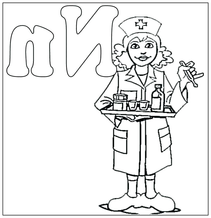 824x850 Cap Colouring Pages Nurse Coloring Page N Is For Nurse Coloring