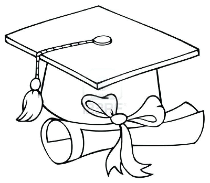 736x642 Graduation Cap And Diploma Coloring Page Ii Iii