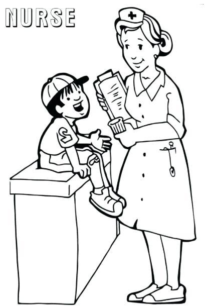 425x611 Nurse Coloring Page