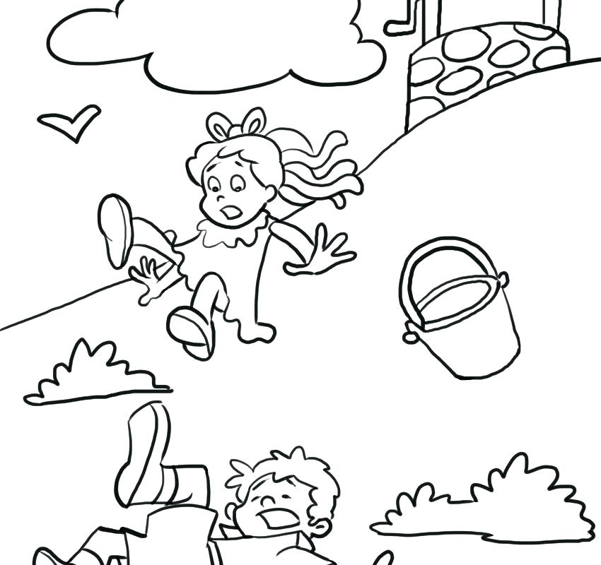 850x800 Free Color Pages Nursery Rhymes Coloring Pages Jack And To Print