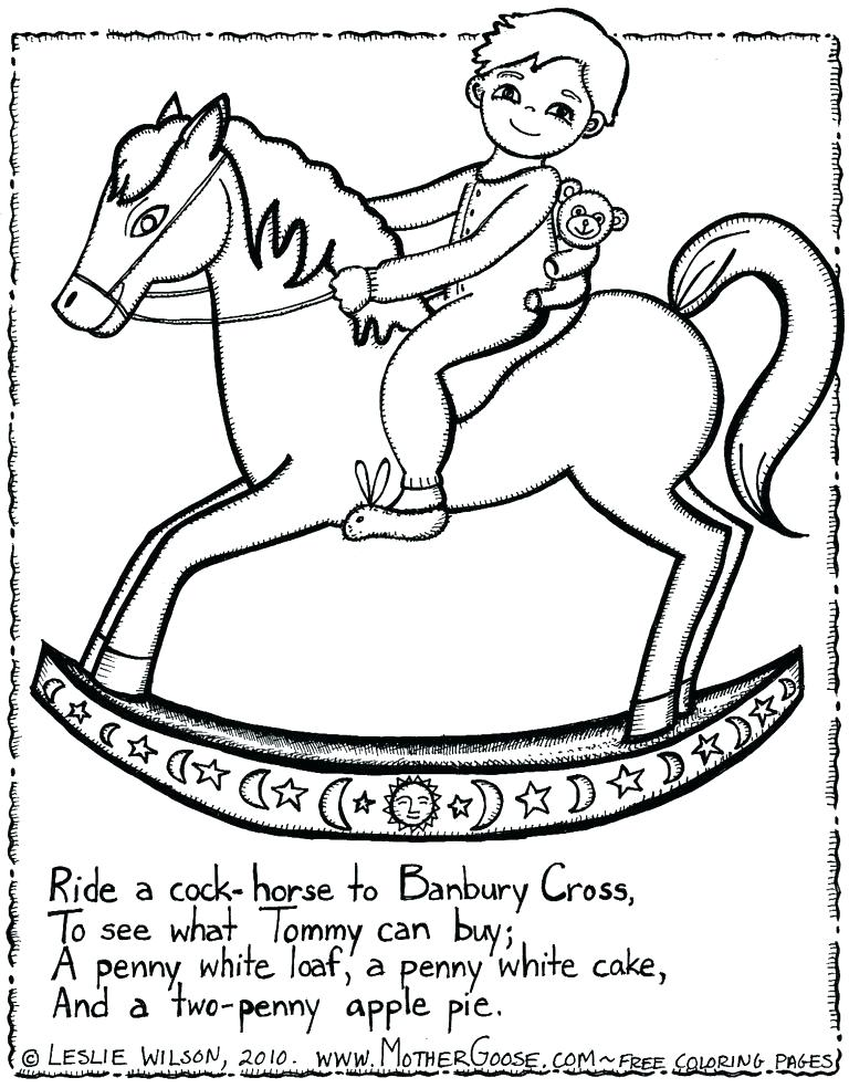 768x984 Nursery Rhyme Colouring Pages Free Nursery Rhyme Coloring Sheets