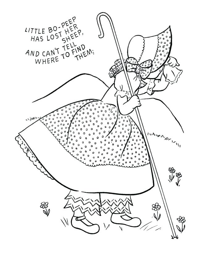 670x820 Nursery Rhymes Coloring Page For Kids Nursery Rhyme Coloring Page