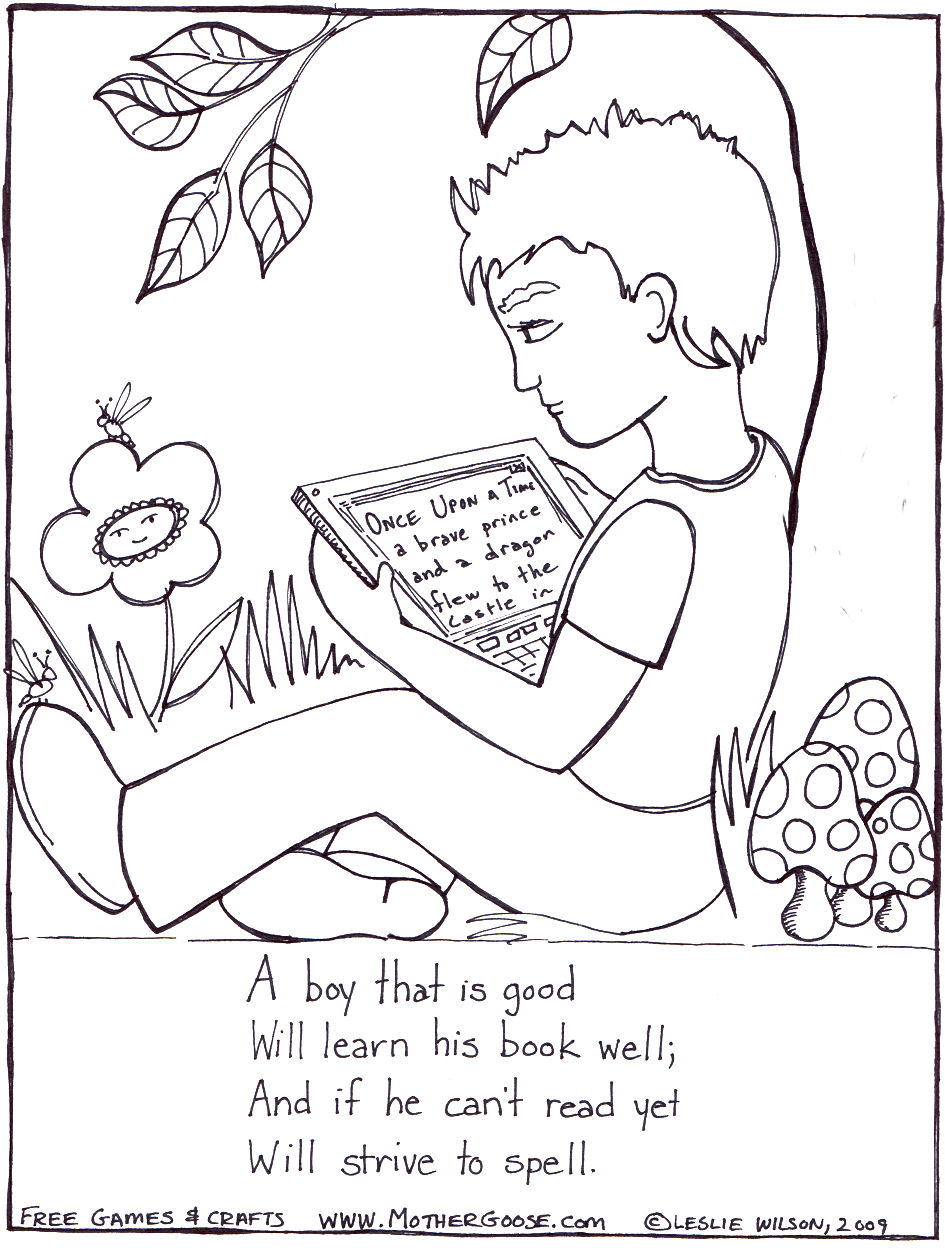 945x1250 Nursery Rhymes Coloring Pages Jack And Jill To Print Free