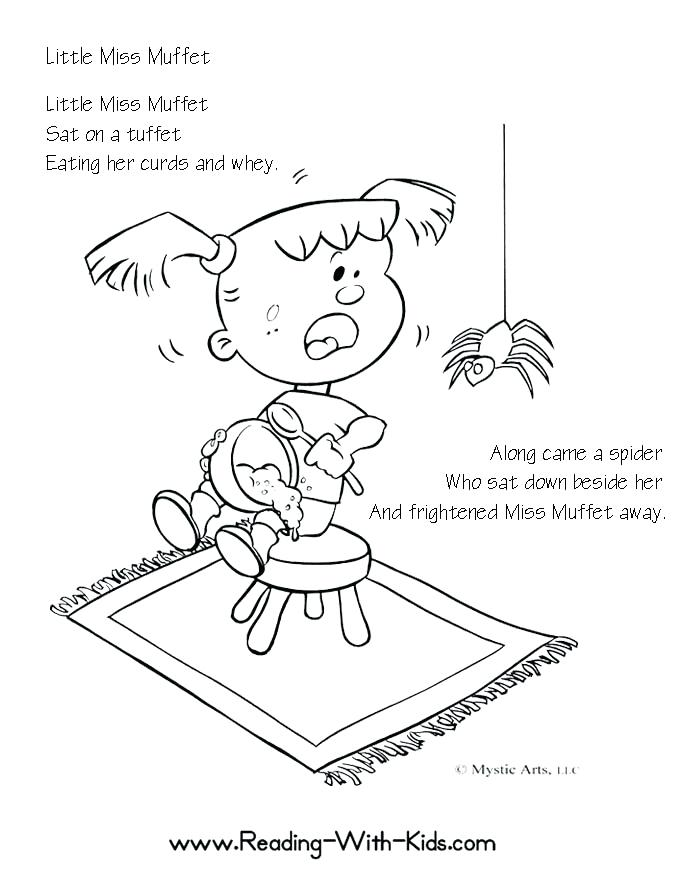 684x885 Nursery Rhymes Coloring Pages Little Miss Coloring Page Nursery