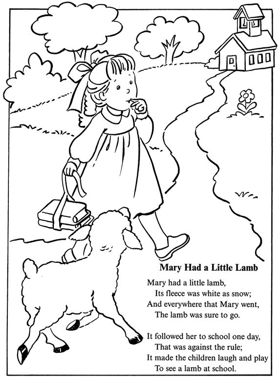 573x770 Peaceful Design Ideas Nursery Rhymes Coloring Pages Printable