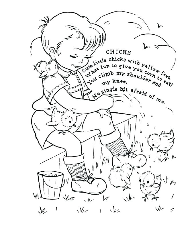 670x820 Free Mother Goose Nursery Rhymes Coloring Pages Kids Coloring