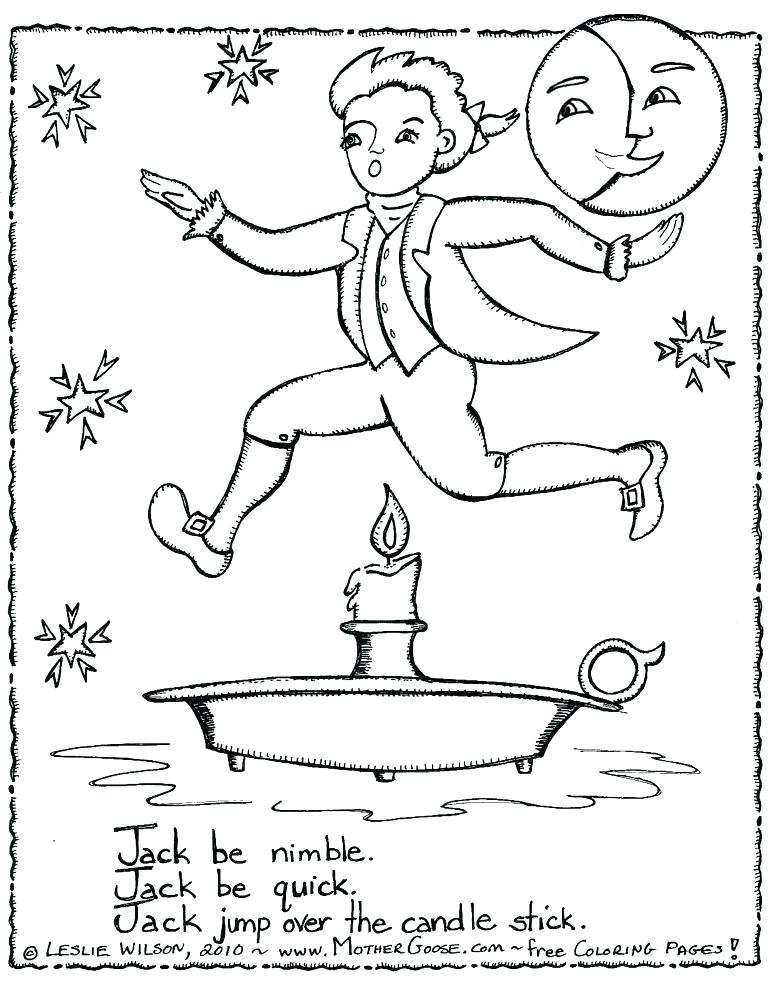768x983 Nursery Rhymes Coloring Pages