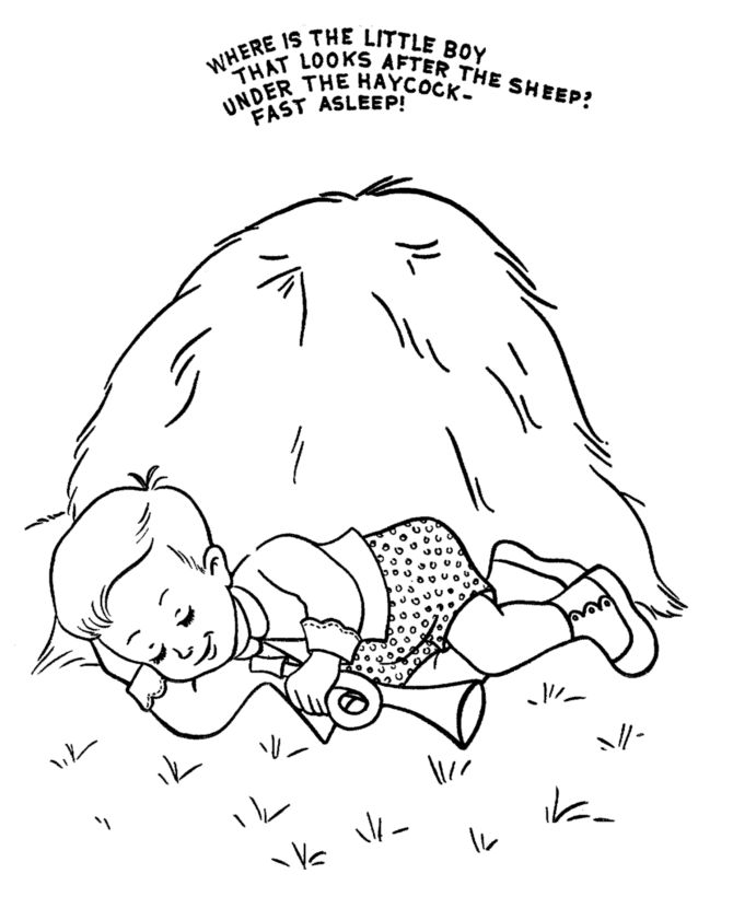 Nursery Rhymes Printables Coloring Pages