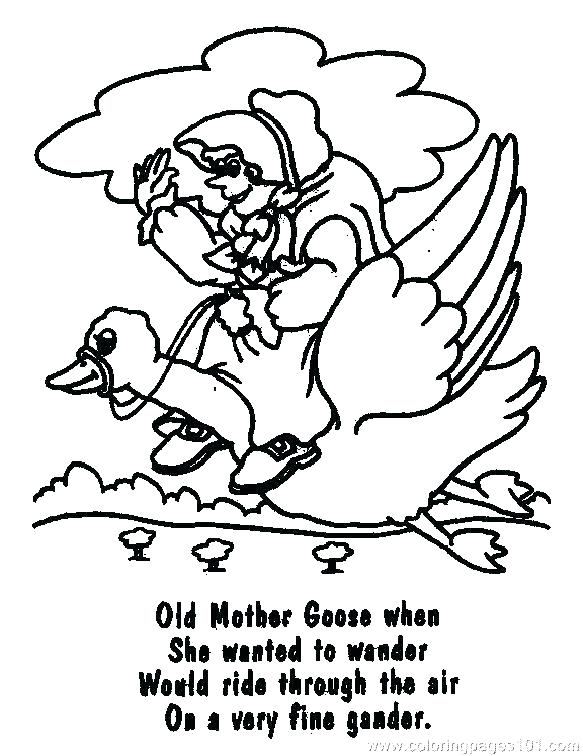 583x756 Mother Goose Coloring Pages Mother Goose Printable Coloring Pages