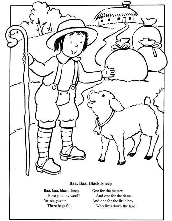600x770 Nursery Rhymes Coloring Pages Jack And Nursery Rhyme Coloring Page