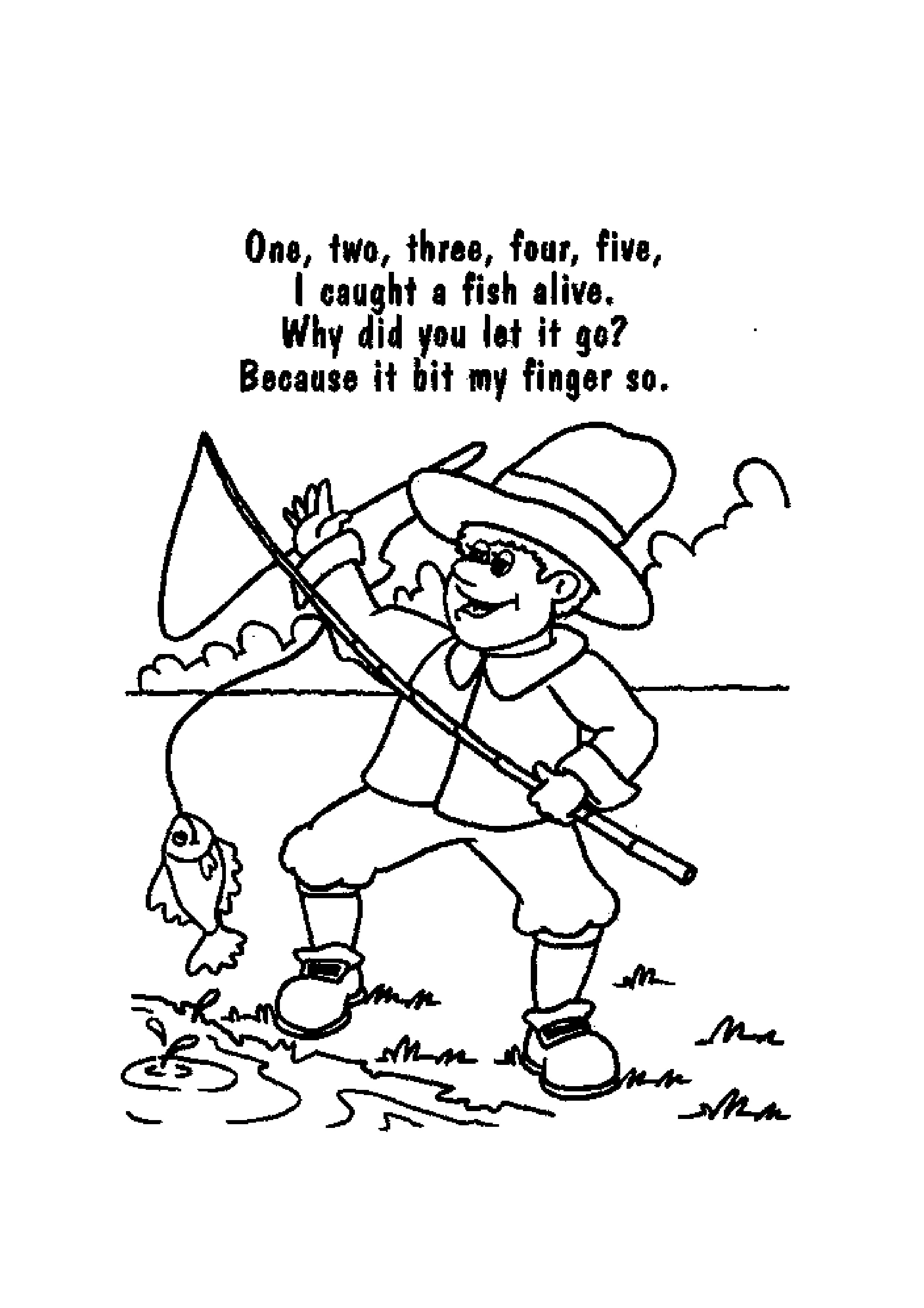 2479x3508 Printable Nursery Rhyme Coloring Pages