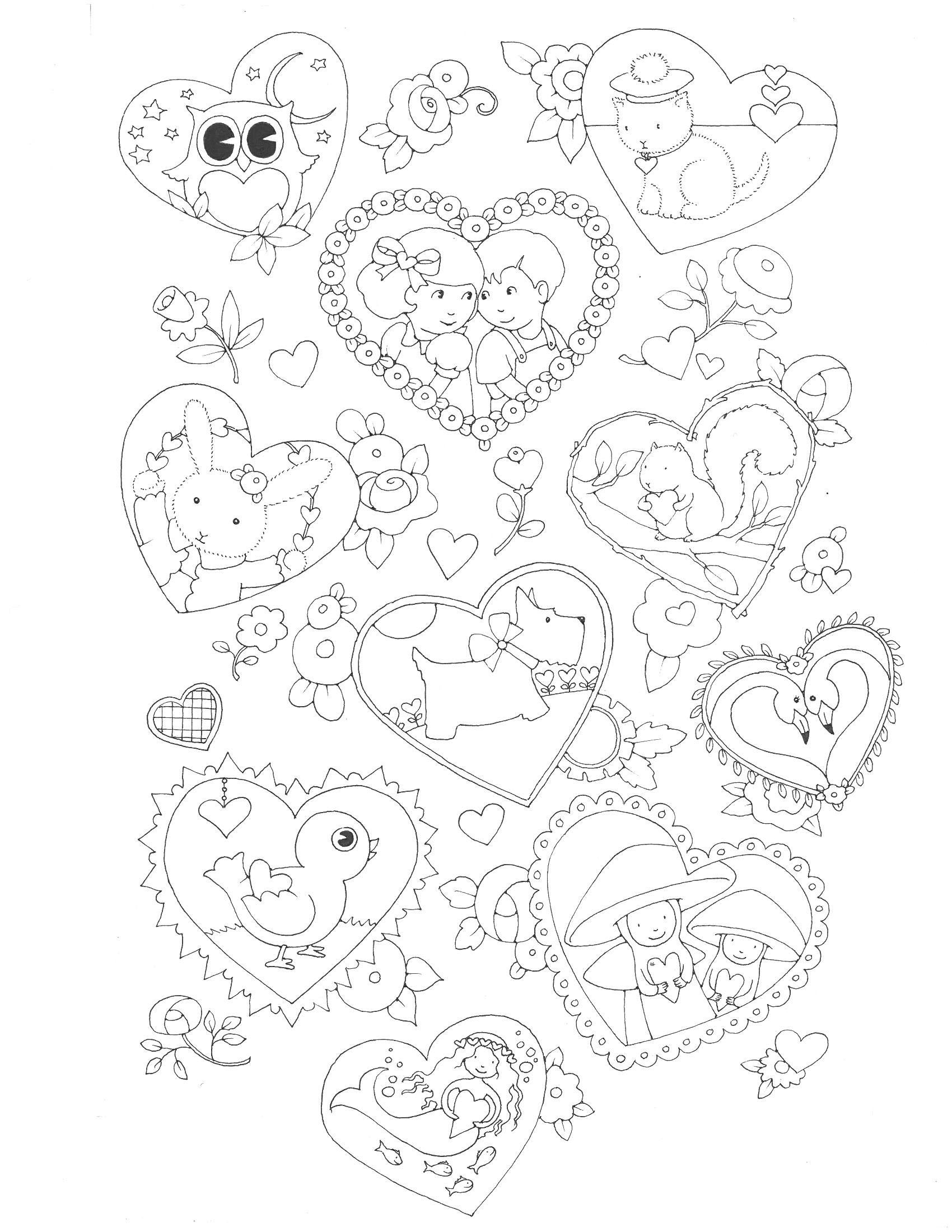 1700x2200 Mary Engelbreit Coloring Pages Nursery Rhymes Printable Colouring