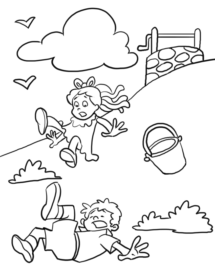 850x1100 Free Printable Nursery Rhymes Coloring Pages For Kids