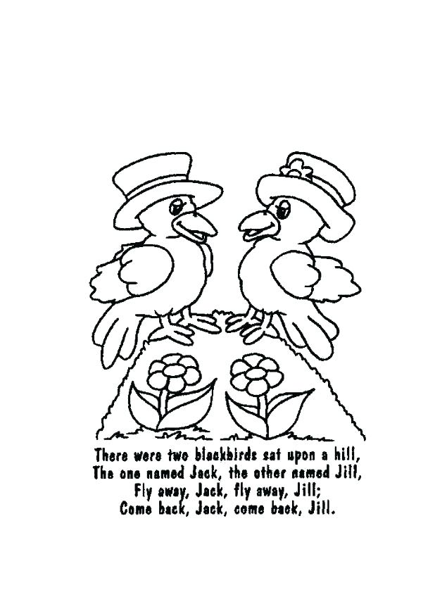 618x875 Jack And Jill Coloring Page Best Of Nursery Rhymes Coloring Pages