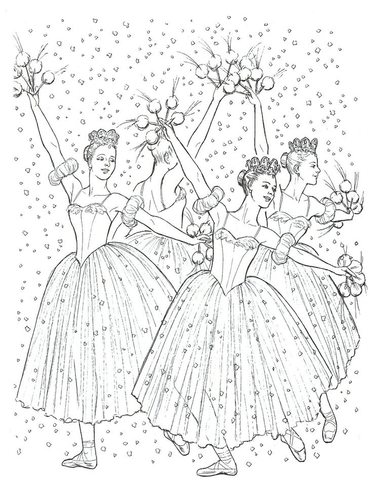736x952 Christmas Ballerina Coloring Pages