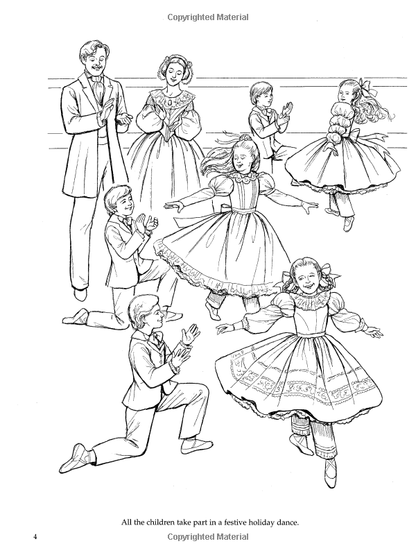 600x800 Nutcracker Ballet Coloring Book