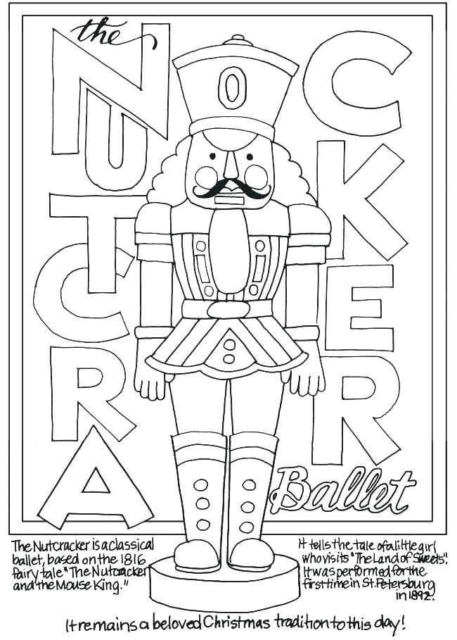 650x909 Nutcracker Coloring Pages Medium Size Of Nutcracker Coloring Pages