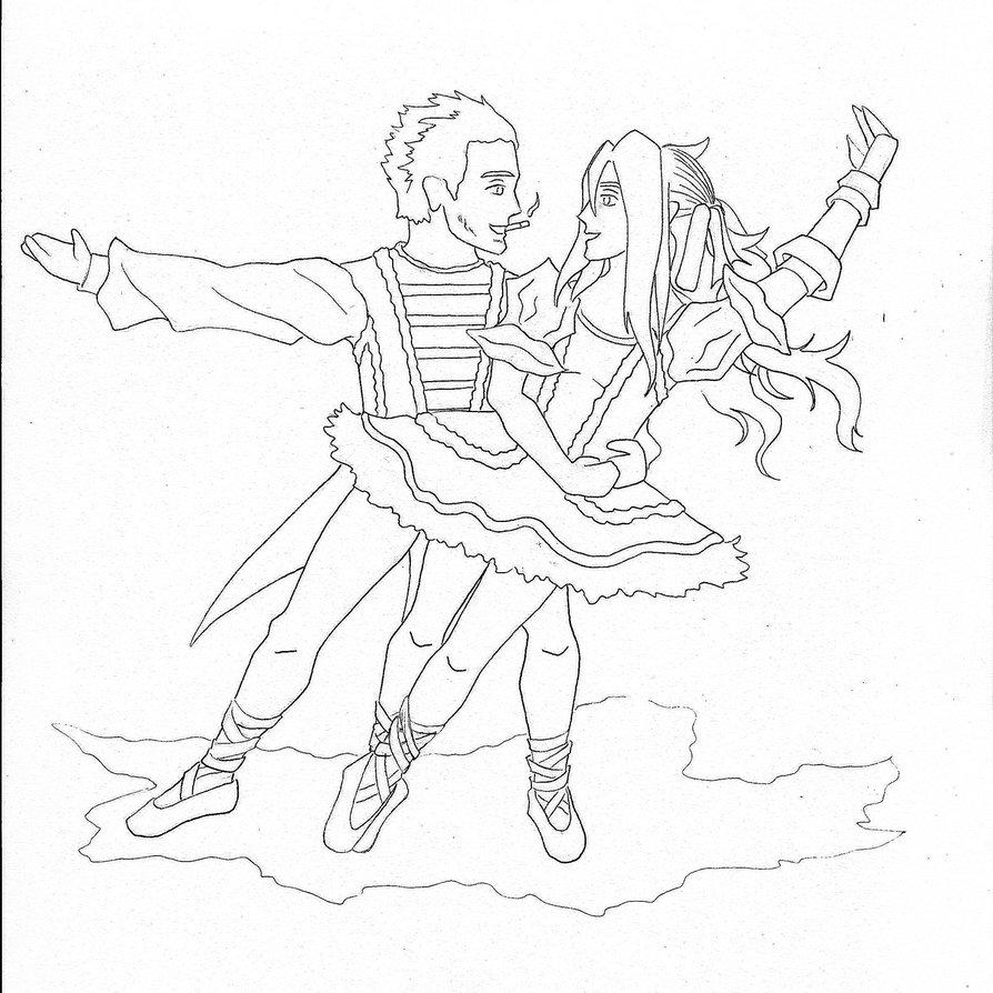 894x894 Ballerina Nutcracker Coloring Page