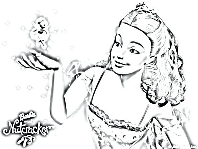 640x480 Barbie Nutcracker Coloring Pages Kids On Download Ho