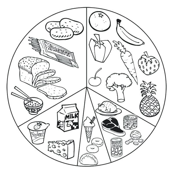 600x601 Healthy Foods Coloring Pages Healthy Coloring Pages Foods List