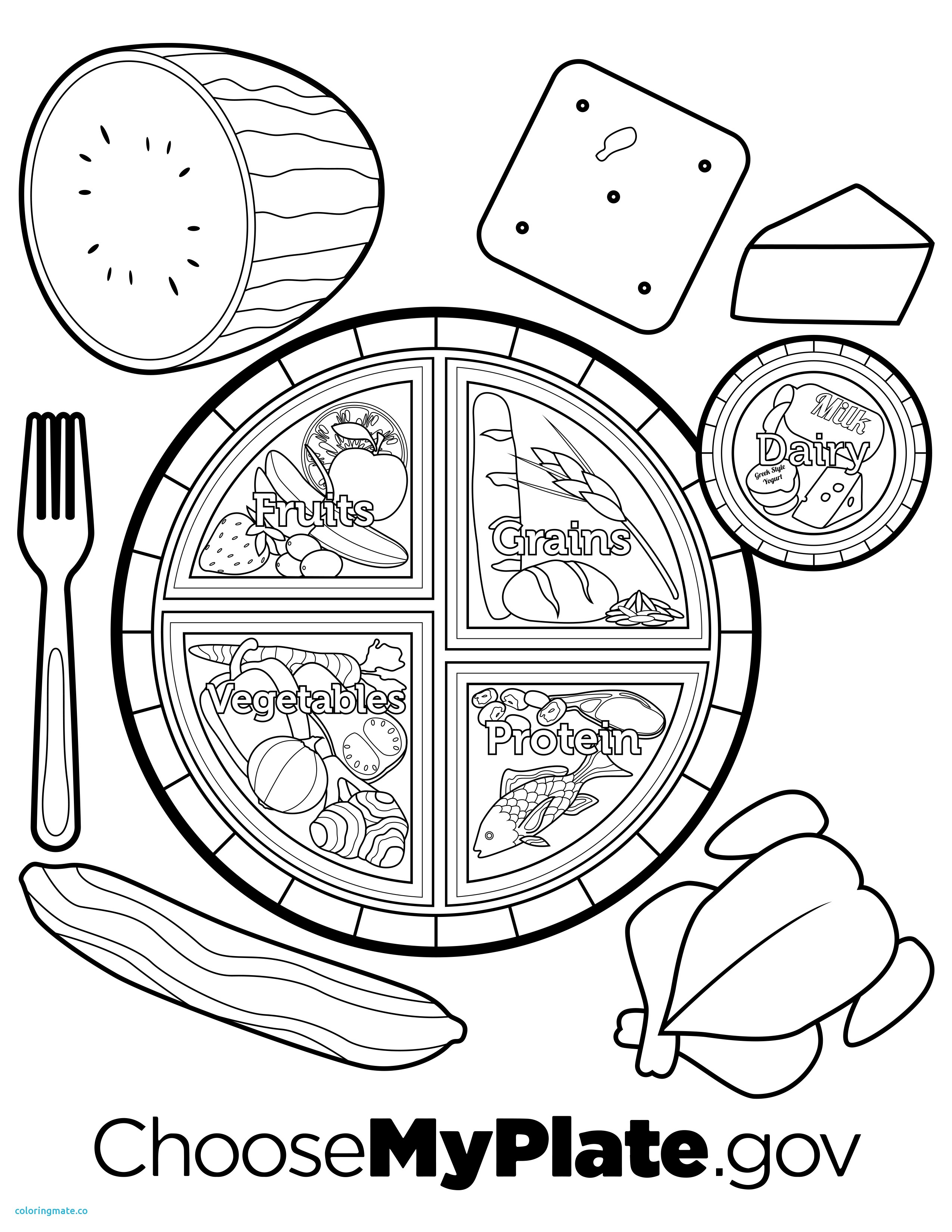 2550x3300 Nutrition Coloring Pages Lovely My Plate Dairy Sheet Free Best