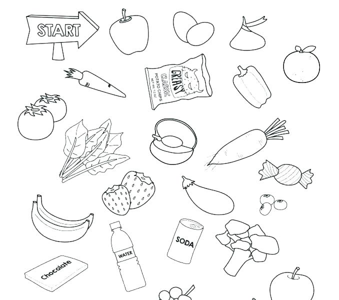 678x600 Healthy Coloring Pages Healthy Coloring Pages Eat Fruit For Your