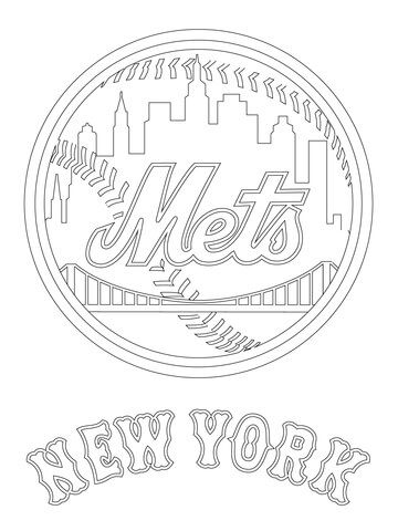 360x480 New York Mets Logo Coloring Page Ny Mets