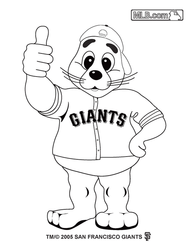 600x800 San Francisco Giants Coloring Pages