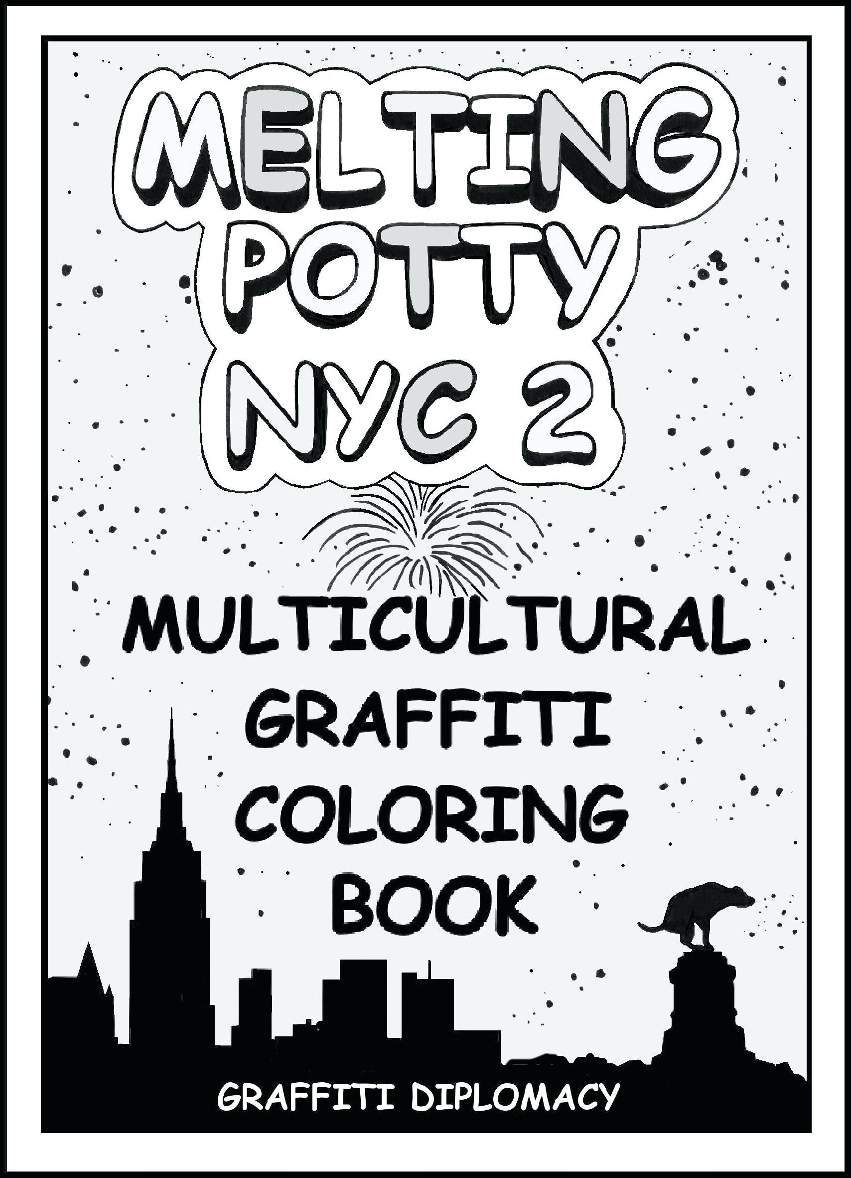 1708x2362 Coloring Page New York Coloring Pages Multicultural Graffiti