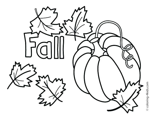 618x469 Autumn Coloring Pages Leaf Coloring Pages For Preschool Coloring
