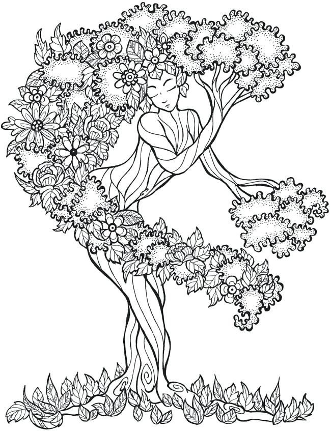 Oak Trees Coloring Pages