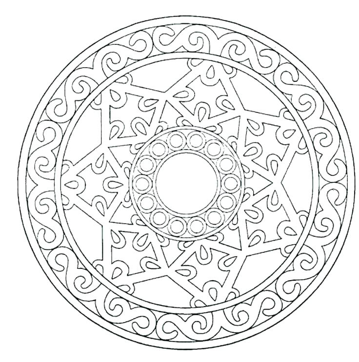 736x743 Oak Tree Coloring Page Luxury Mandala Coloring Pages For Kids New
