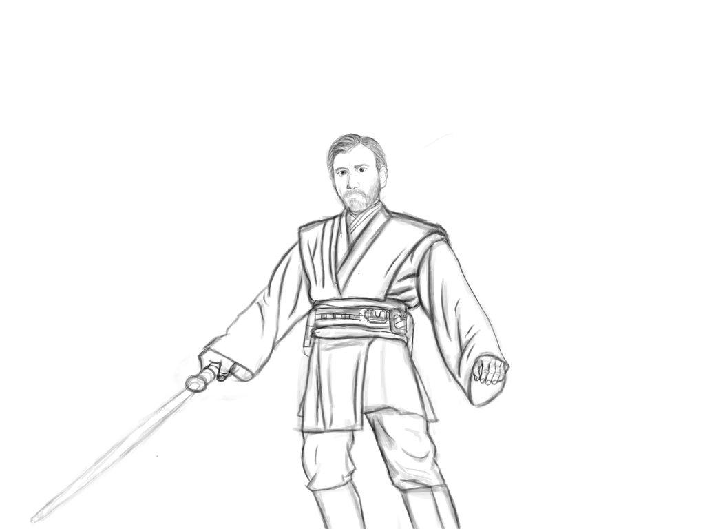 Obi Wan Coloring Page