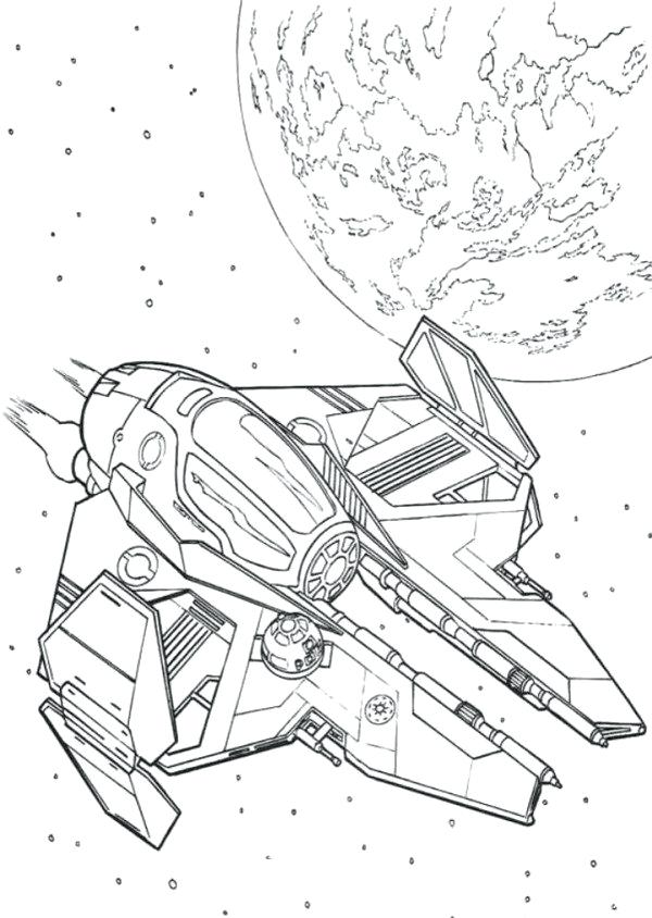 600x844 Spaceship Coloring Page Obi Wan Spaceship Star Wars Coloring Pages