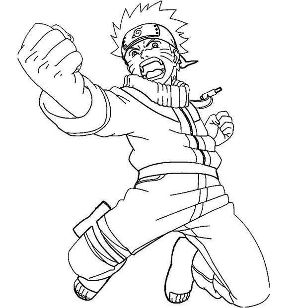 600x621 Naruto Colored Pages Coloring Pages Engaging Naruto Coloring Page