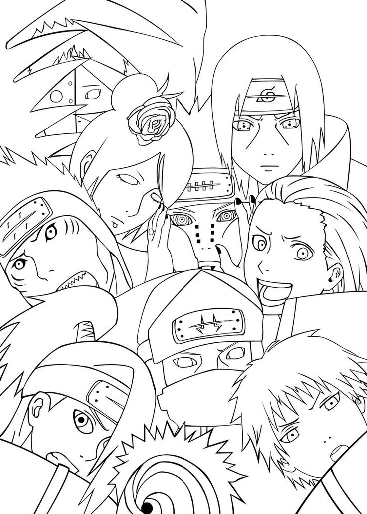 736x1030 Naruto Coloring Pages Nice Naruto Coloring Pages