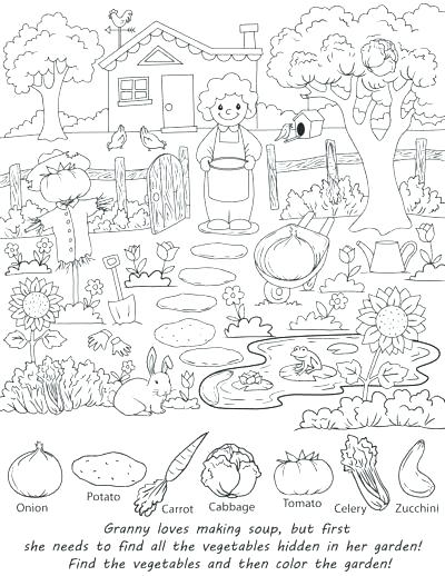 400x518 Find The Hidden Objects Coloring Pages Hidden Pictures Coloring