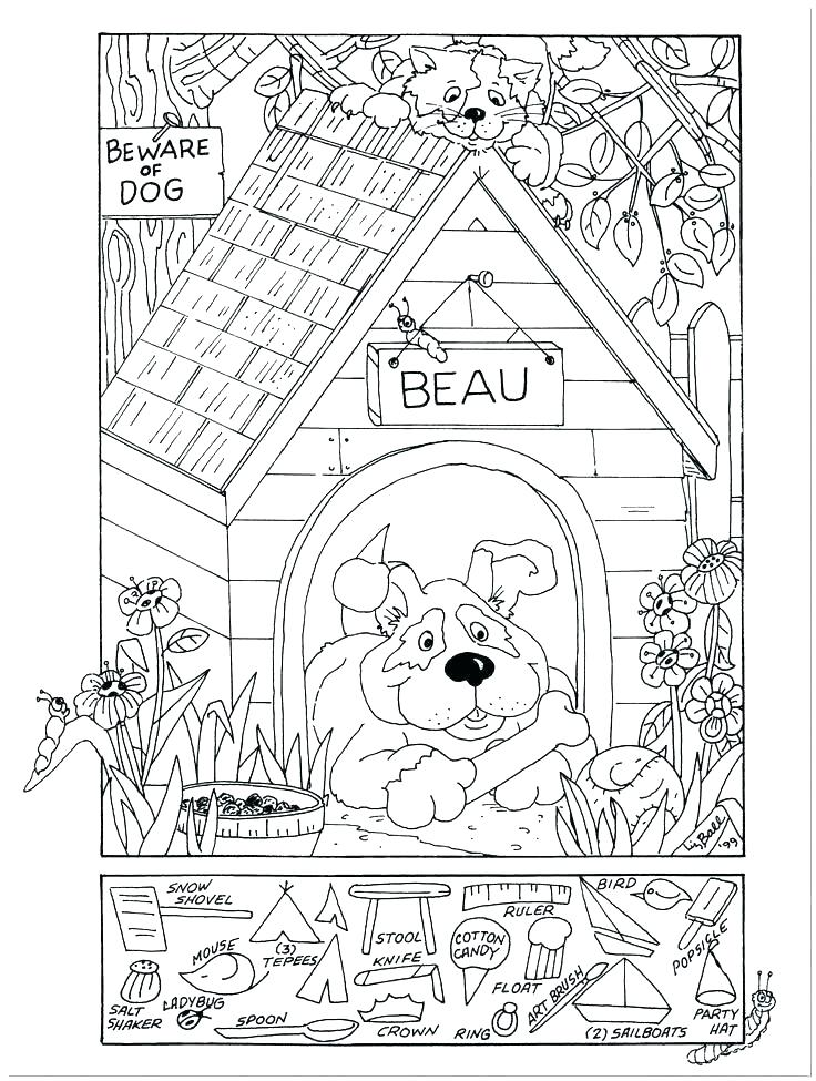 736x975 Hidden Picture Coloring Pages Find The Hidden Objects Coloring
