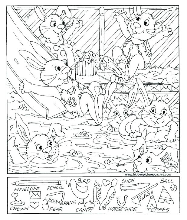 618x728 Hidden Pictures Coloring Pages Printable Hidden Objects Coloring