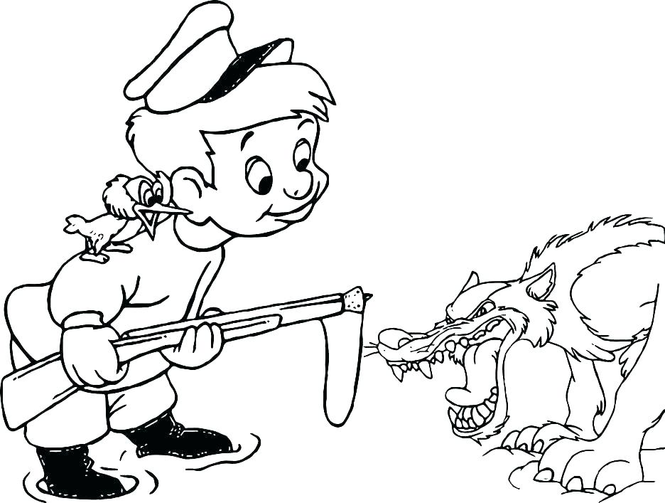 936x707 Heavenly Peter And The Wolf Coloring Pages Colouring To Humorous