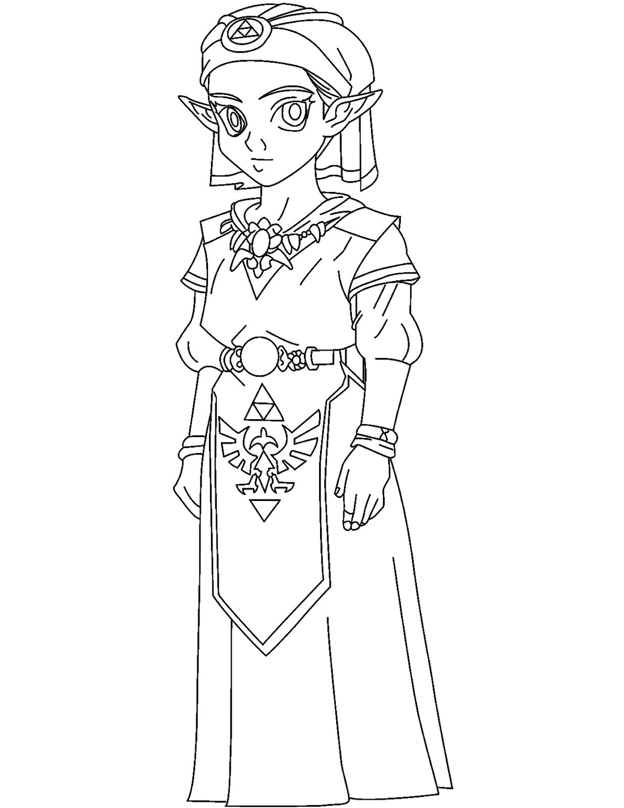 Ocarina Of Time Coloring Pages at GetDrawings | Free download