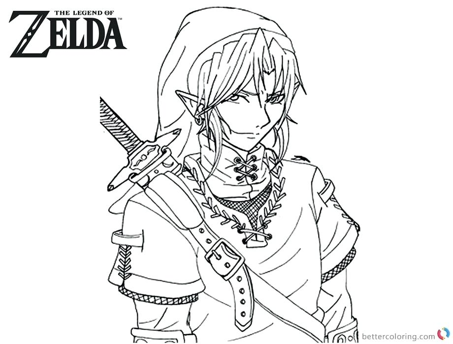 ocarina of time coloring pages at getdrawings free