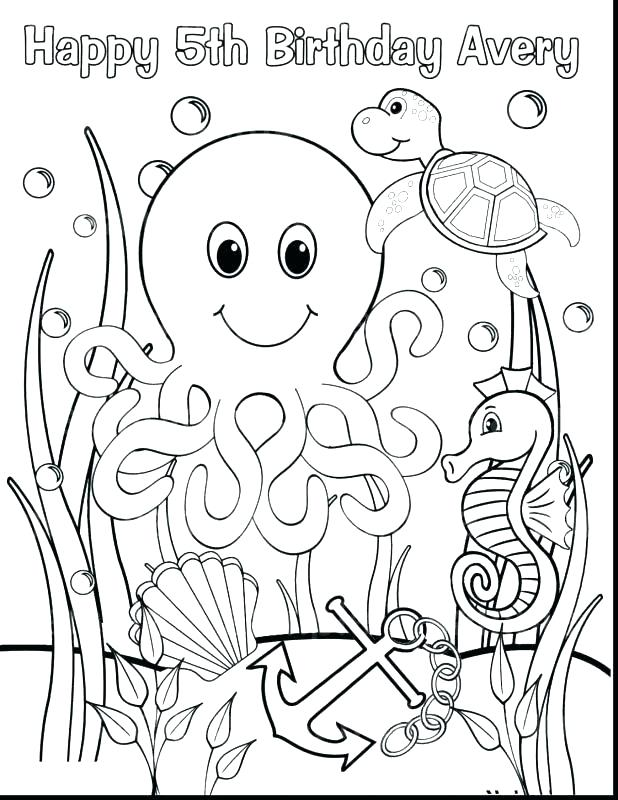 618x800 Underwater Animals Coloring Pages Professional