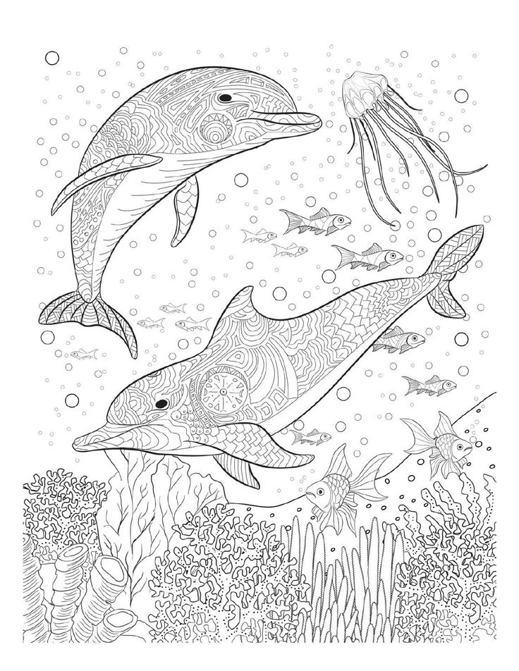 Ocean Coloring Pages For Adults