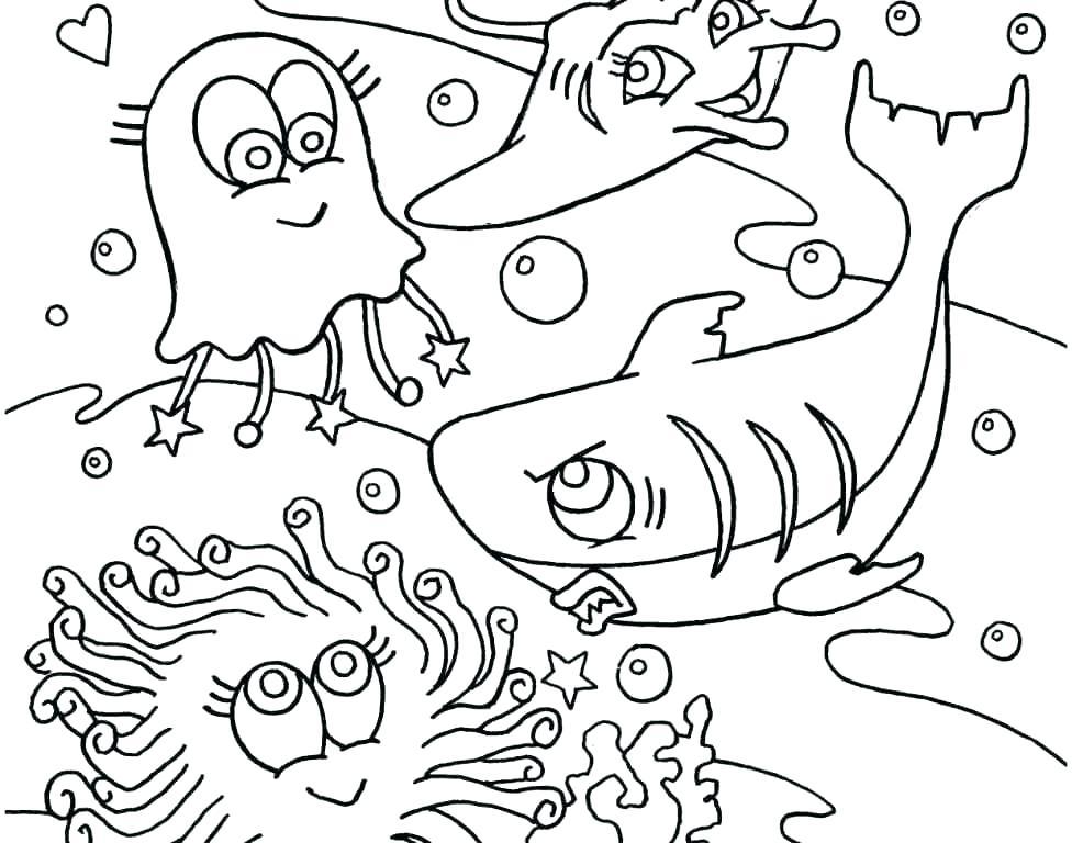 976x768 Ocean Habitat Coloring Pages Ocean Coloring Page Printable Ocean