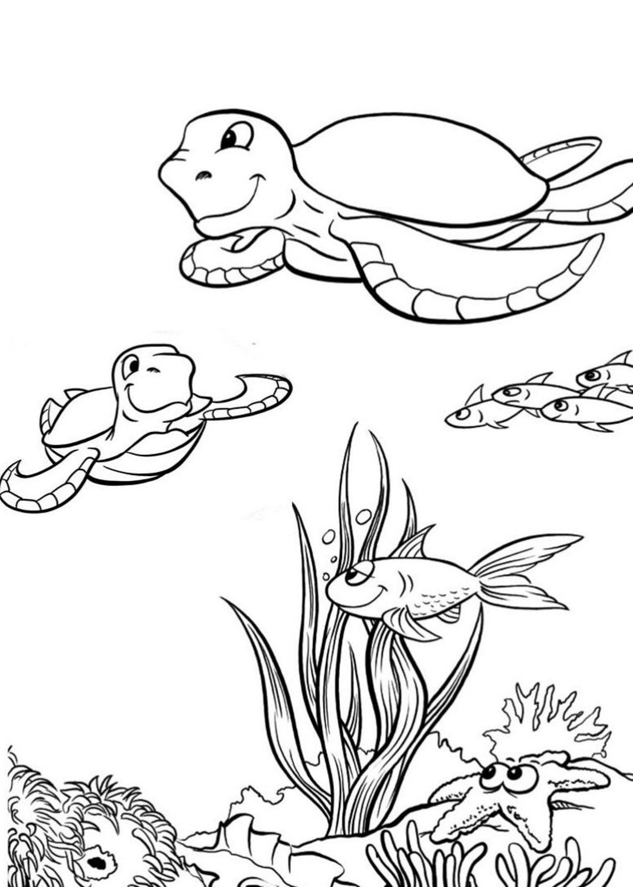 1291x1810 Sea Turtle Coloring Pages